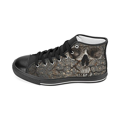 D-Story Custom Human Skull Mens Classic High Top Canvas Shoes Fashion Sneaker SmoRU