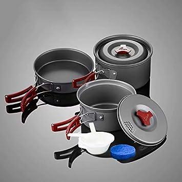 GL-outdoor Kit de Utensilios de Cocina para Acampar Sartenes ...