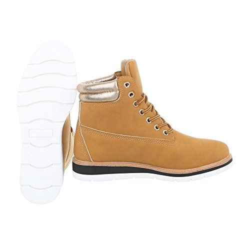 up Ankle Block Lace H946 Ital Boots at Boots Heel Women's Design Camel BgBUO0Y