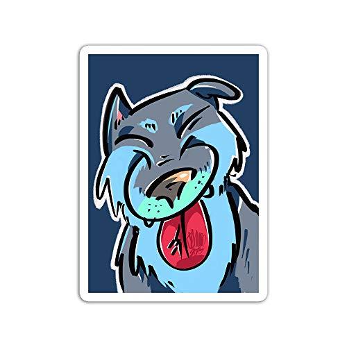 gordonstore Sticker Creature Animal Happy Wolfdog Liking Tongue Animals Fauna (3