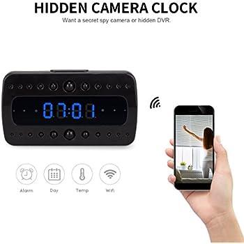 FREDI HD 1080P Wifi Camera Alarm Clock Night Vision/Motion Detection/Display Temperature Home Surveillance Cameras