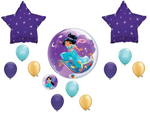 (Jasmine Princess Aladdin Birthday Balloons Decoration)