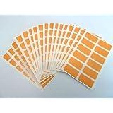 200 étiquettes, 25X12mm rectangle, orange, COULEUR CODE STICKERS, auto-adhésif en couleur étiquettes