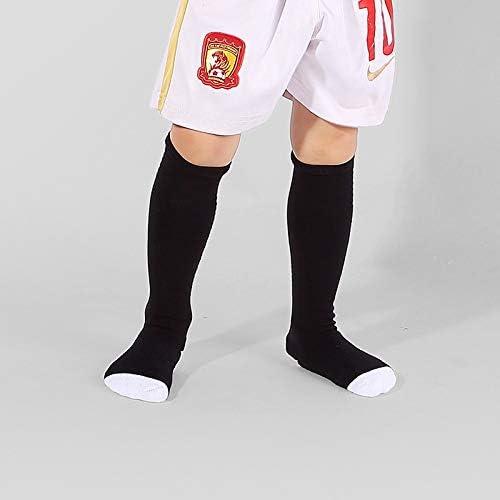 スポーツソックス 靴下 子供用スポーツソックス厚手のタオルボトムサッカーソックス膝上滑り止めストッキング (Color : Black, Size : 7-9age)
