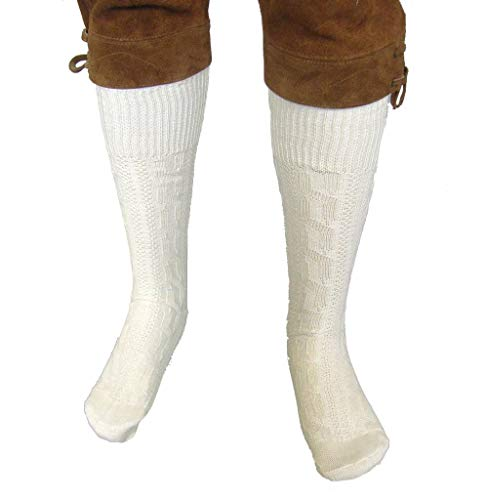 Oktoberfest-Kleidung Herren Trachtenstrümpfe, TR-15, naturfarben