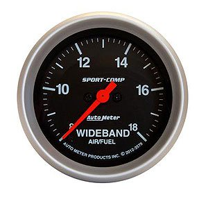 Auto Meter 3579 Sport-Comp Wide Band Air Fuel Ratio Kit (Gauge Band Wide Kit)