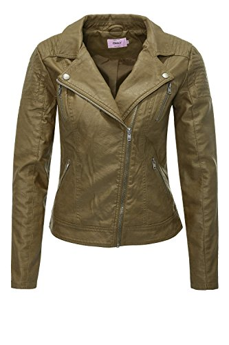 Faux Biker Giacca Olive Military Onlsteady Only Leather Otw Donna Cc nCUPtx5