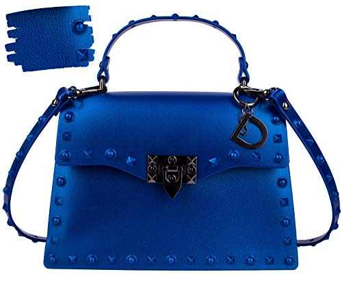 DASTI Designer Crossbody Bags for Women Handbags Shoulder Ladies Rivets Studded clutch fashion Purses clearance bolsos carteras de mujer en oferta de marcas (Royal Blue, Medium)
