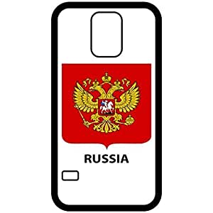 Russia - Coat Of Arms Flag Emblem Black Samsung Galaxy S5 Cell Phone Case - Cover