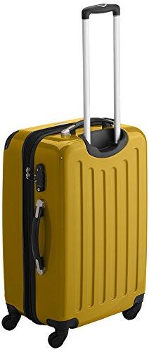 HAUPTSTADTKOFFER - Alex - 2er Koffer-Set Hartschale glänzend, TSA, 65 cm + 55 cm, 74 Liter + 42 Liter, Graphit-Gelb Graphit-gelb