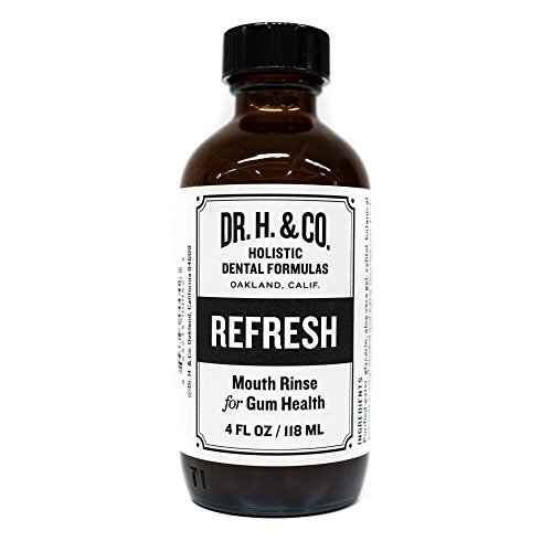 (Dr. H. & Co. Dentist Formulated Refresh Mouthwash - All Natural Herbal and Holistic Mouth Rinse for Healthy Gums and Teeth (4 oz Glass Bottle))