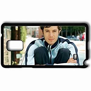 Personalized Samsung Note 4 Cell phone Case/Cover Skin Adam Brody Dark Haired Suit Hair Smile Black