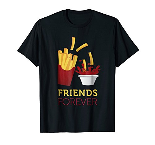 French Fries Ketchup (French Fries and Ketchup BFF T-Shirt)