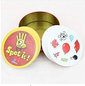 لعبة بطاقات سبوت إت كروت مع صندوق معدني أفضل هدية لمجموعة العائلة مستوردة من الورق