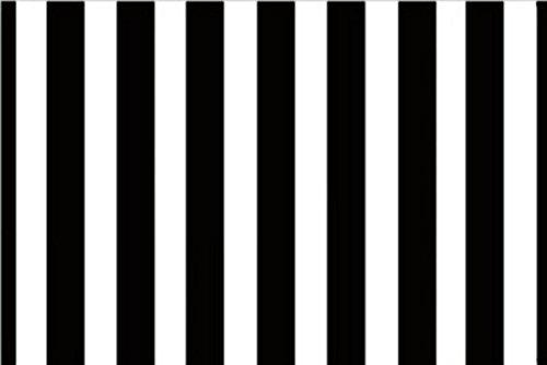 Black and White Striped Non-Slip Entry Way Floor Mat Outdoor Indoor Decor Rug Doormats, 23.6