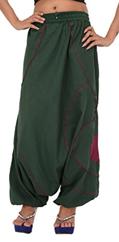 Skirts 'N Scarves Women's Cotton Harem/Yoga Pant/Casual Trouser Green by Skirts 'N Scarves