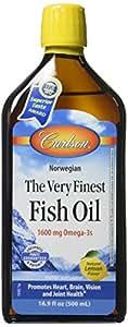 Carlson The Very Finest Fish Oil Lemon -- 16.9 fl oz