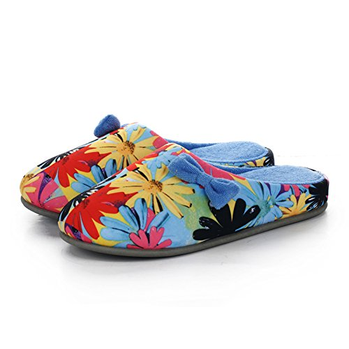 In slippers comfortable and house autumn slip blue female soft thick cotton winter soled£¬Non qxqrUHw8n