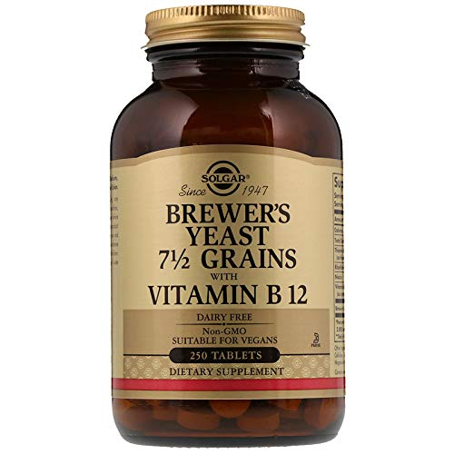 (Solgar - Brewer's Yeast 7 1/2 Grains with Vitamin B12, 250)