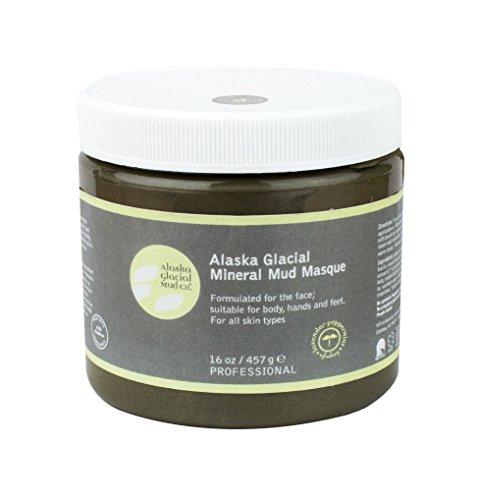 Alaska Glacial Mud Mineral Mud Masque Lavender Peppermint 16oz Anti-Aging Mud Mask Skin Softening, All Skin Types Paraben-Free
