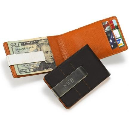 Contemporary Leather Letter - JDS Marketing and Sales BL280 Metro Leather Wallet-Money Clip