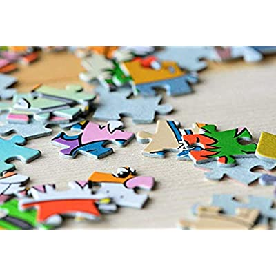 1000 Piece Jigsaw Puzzle Animal World Educational Intellectual Decompressing Fun Game for Kids Adults Teens: Toys & Games