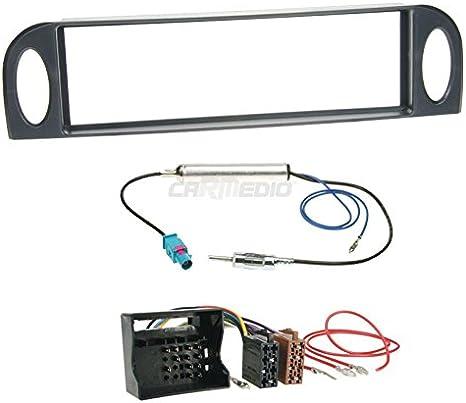 Citroen C5 01 – 04 de 1 DIN para Radio de Coche Set en Original Plug & Play Calidad con Antena Adaptador, Radio Cable de conexión, Accesorios y ...