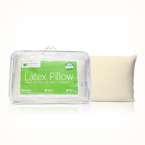 All Natural Latex Pillow with Organic Cotton Outer Covering (Standard - Extra Firm)