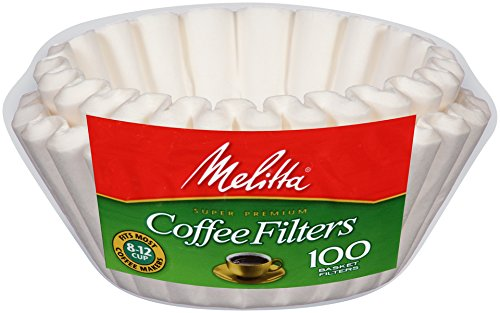 Melitta Basket Coffee Filters, White (8 to 12 Cup) 100 Count