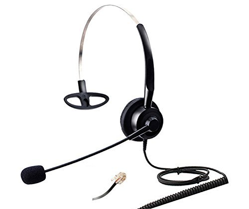 Audicom H200STAC Corded Office Telephone RJ Headset with flexible Noise Canceling Mic for Aastra Shoretel Cisco E20 Polycom 335 VVX400 Digium D40 D70 Altigen 500 720 Comdial & Starleaf IP Phones