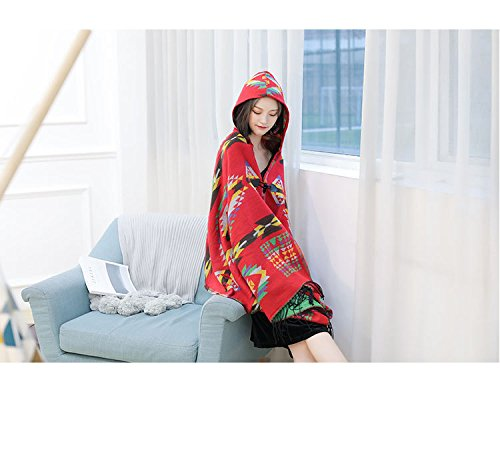 Generic Tibet, Nepal and India Bohemian national wind Scarf autumn and winter thick hooded cloak cape