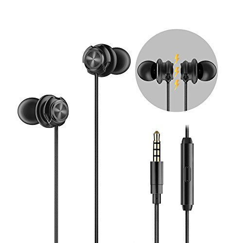 HEMRLY Magnetic Wired Headphones, Noise Cancelling Earphones HiFi Stereo Sound Inear Earbuds Microphone, Sweatproof Sports in-Ear Earbud Jogging Walking Running Gym Exercise Workout by HEMRLY