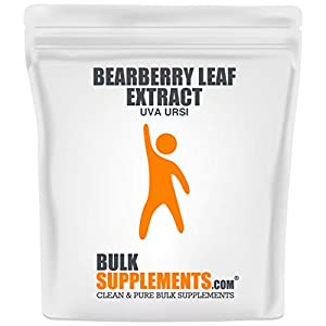 Gut Health Shop 41M6OxhWACL._SS300_ BulkSupplements.com Bearberry Leaf Extract (uva Ursi) Powder - Kidney Supplement - Bear Berry - Kidney Urinary…