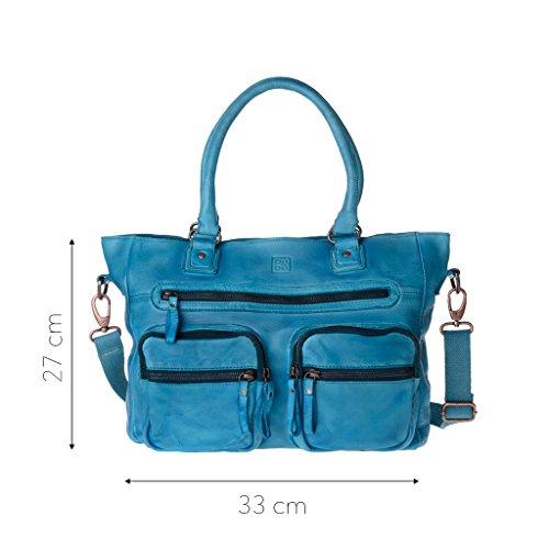 Azul Hombro Al Piel Bolso Taille Dudu Unique De Mujer Para B6n0aq