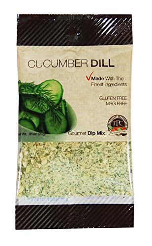 Gourmet Seasoning Packets for Dip Mix, Soups and Spreads, All Purpose Seasoning, Gluten Free, MSG Free. By The Pantry Club. (Cucumber Dill 12 Packets) Cucumber Dill Dip Mix