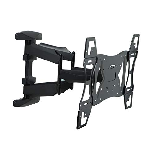 Full Motion TV Wall Mount Bracket 32-70 inch Retractable Dual Arm Full Motion TV Wall Mount with Plastic Cover Tilt Swivel Screen Bracket Stand Plasma Holder Universal 50KG