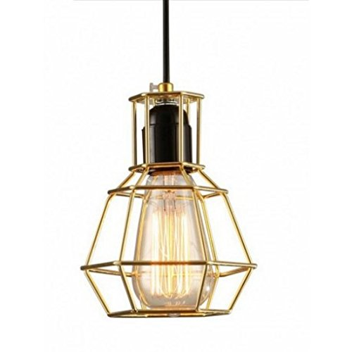 1 light edison vintage industrial warehouse cage pendant lamp light 41M6RBzb 3L