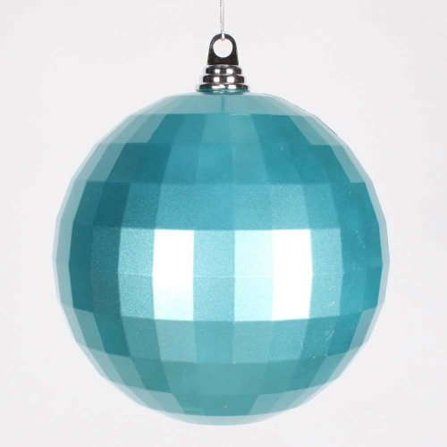 Vickerman 8'' Teal Candy Finish Mirror Ball Christmas Ornament by Vickerman