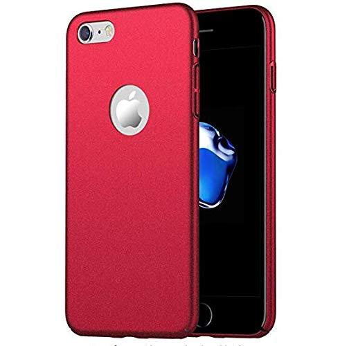 Urhause iPhone 7//8 H/ülle Anti-Kratzer Ultra d/ünn iPhone 7//8 Hart PC H/ülle, Silky Handyh/ülle Sto/ßfest Anti-Fingerabdruck Schutzh/ülle R/ückschale Hardcase Protective Back Case,Rot