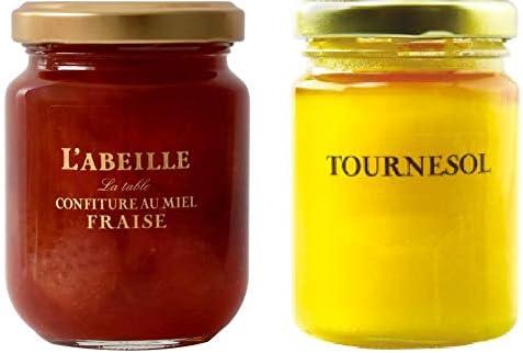 L'ABEILLE ラベイユ はちみつ( ひまわり )250g と はちみつコンフィチュール いちご 220g セット
