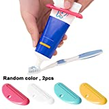 Toothpaste Clip, Bagvhandbagro Multi-Functional Tube Squeezer Cleanser Toothpaste(2 PCS) [Random Color]