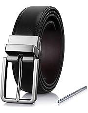 Herren Gürtel, Ledergürtel Herren Wendegürtel Leder Gürtel für Männer Herrengürtel - 35mm breit