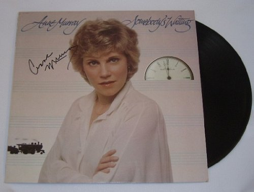 Anne Murray Somebody's Waiting Authentic Signed Autographed Lp Record Album with Vinyl Loa