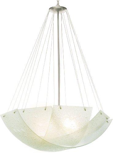 Cirrus Glass Bowl - Kalco 5099SN, Cirrus Large Blown Glass Bowl Pendant, 5 Light, 500 Total Watts, Nickel