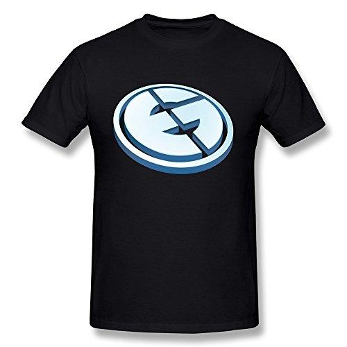 QMY Men's Geek Evil Geniuses T-shirts XL Black