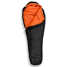 "Hyke & Byke Eolus 15 & 30 Degree F 800 Fill Power Hydrophobic Goose Down Sleeping Bag with ClusterLoft Base - Ultra Lightweight 3 Season Men's and Women's Mummy Bag Designed for Backpacking 7 SAVE SPACE and SHAVE WEIGHT - Our new 2019 model is designed to maximize durability, warmth, and water resistance. Our quest for the perfect solution led us to utilize Hydrophobic 800 FP Goose Down with a revolutionary ClusterLoft base. ClusterLoft performs better than down for durability under compression and moisture resistance. It has been called ""the closest synthetic insulation to natural down ever developed"" due to its performance and its construction mimicking natural down clusters. STAY WARM and DRY as a result of Hydrophobic Goose Down insulation capabilities and water-resistant DWR fabrics - the microscopic air clusters found in down feathers creates ""loft"" that traps heat and keeps you warm for cool weather camping, back packing, hiking, and bikepacking. HIKE FARTHER with the LIGHTEST MUMMY DOWN SLEEPING BAG available for this quality at the price. Summit any mountain or camp by the summer sea with these compact bags and have room for carrying your favorite fleece blanket or silk liner, goose filled pillow, and pad. Weighs ONLY: Short: 1.94 / 2.44 lbs; Regular: 2.05 / 2.62 lbs; Long: 2.16 / 2.80 lbs for the 30 / 15 °F bags, respectively. Compare to other brands to see the price difference we achieve through direct-to-consumer sales."