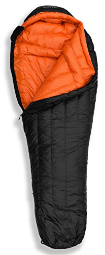 "Hyke & Byke Eolus 15 & 30 Degree F 800 Fill Power Hydrophobic Goose Down Sleeping Bag with ClusterLoft Base - Ultra Lightweight 3 Season Men's and Women's Mummy Bag Designed for Backpacking 1 SAVE SPACE and SHAVE WEIGHT - Our new 2019 model is designed to maximize durability, warmth, and water resistance. Our quest for the perfect solution led us to utilize Hydrophobic 800 FP Goose Down with a revolutionary ClusterLoft base. ClusterLoft performs better than down for durability under compression and moisture resistance. It has been called ""the closest synthetic insulation to natural down ever developed"" due to its performance and its construction mimicking natural down clusters. STAY WARM and DRY as a result of Hydrophobic Goose Down insulation capabilities and water-resistant DWR fabrics - the microscopic air clusters found in down feathers creates ""loft"" that traps heat and keeps you warm for cool weather camping. HIKE FARTHER with the LIGHTEST MUMMY DOWN SLEEPING BAG available for this quality at the price. Summit any mountain or camp by the summer sea with these compact bags and have room for carrying your favorite fleece blanket or silk liner, goose filled pillow, and pad. Weighs ONLY: Short: 1.94 / 2.44 lbs; Regular: 2.05 / 2.62 lbs; Long: 2.16 / 2.80 lbs for the 30 / 15 °F bags, respectively. Compare to other brands to see the price difference we achieve through direct-to-consumer sales."