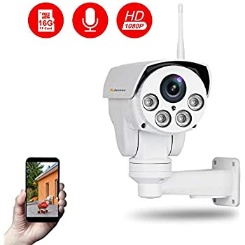 Amazon com : 2MP 10x optical Zoom Mini PTZ Outdoor IP Camera POE IR