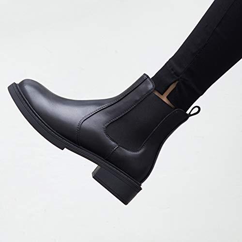 Annieshoe Negro Chelsea Botas Fashion Botines Otoño Mujer Vestir Invierno Plataforma Tacon Elegantes rqrP76