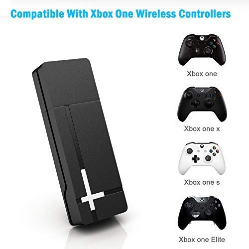 UKOR Wireless Adapter for Xbox One,Compatible with PC Windows 10, 8.1, 8, 7, have compatibility for Xbox One Controller, Elite Series 2 and Xbox One X/S, Xbox Series X/S
